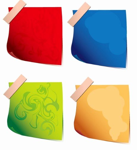 Sticky Notes Vector Lovely Free Set Vector Cartoon Sticky Notes for Kids 01 Titanui