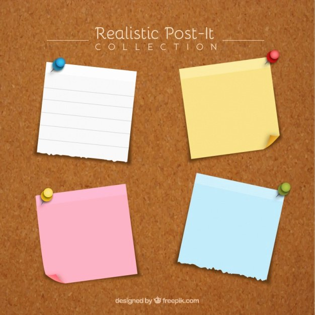 Sticky Notes Vector Lovely Post It Notes Vectors S and Psd Files