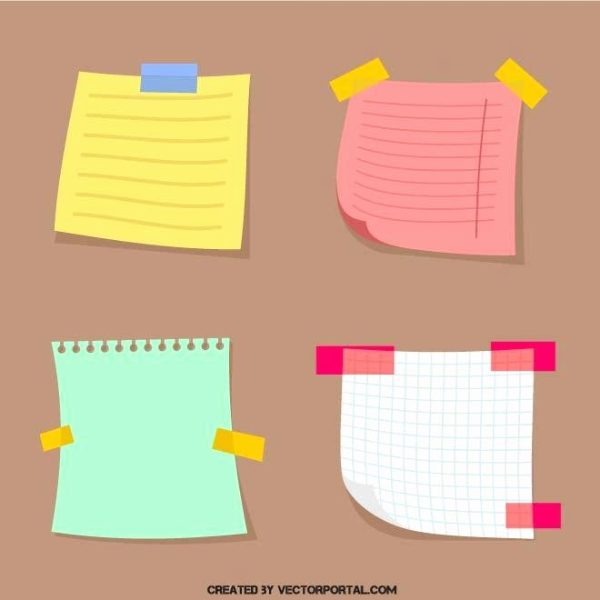 Sticky Notes Vector Lovely Sticky Notes Download at Vectorportal