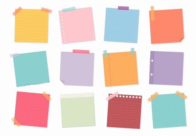 Sticky Notes Vector Lovely Sticky Notes Vectors S and Psd Files