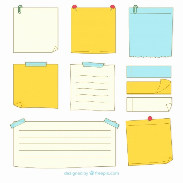 Sticky Notes Vector Luxury Pack Of Hand Drawn Sticky Notes Vector