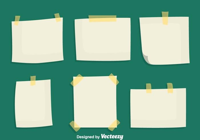 Sticky Notes Vector New Sticky Notes Paper Vectors Download Free Vector Art