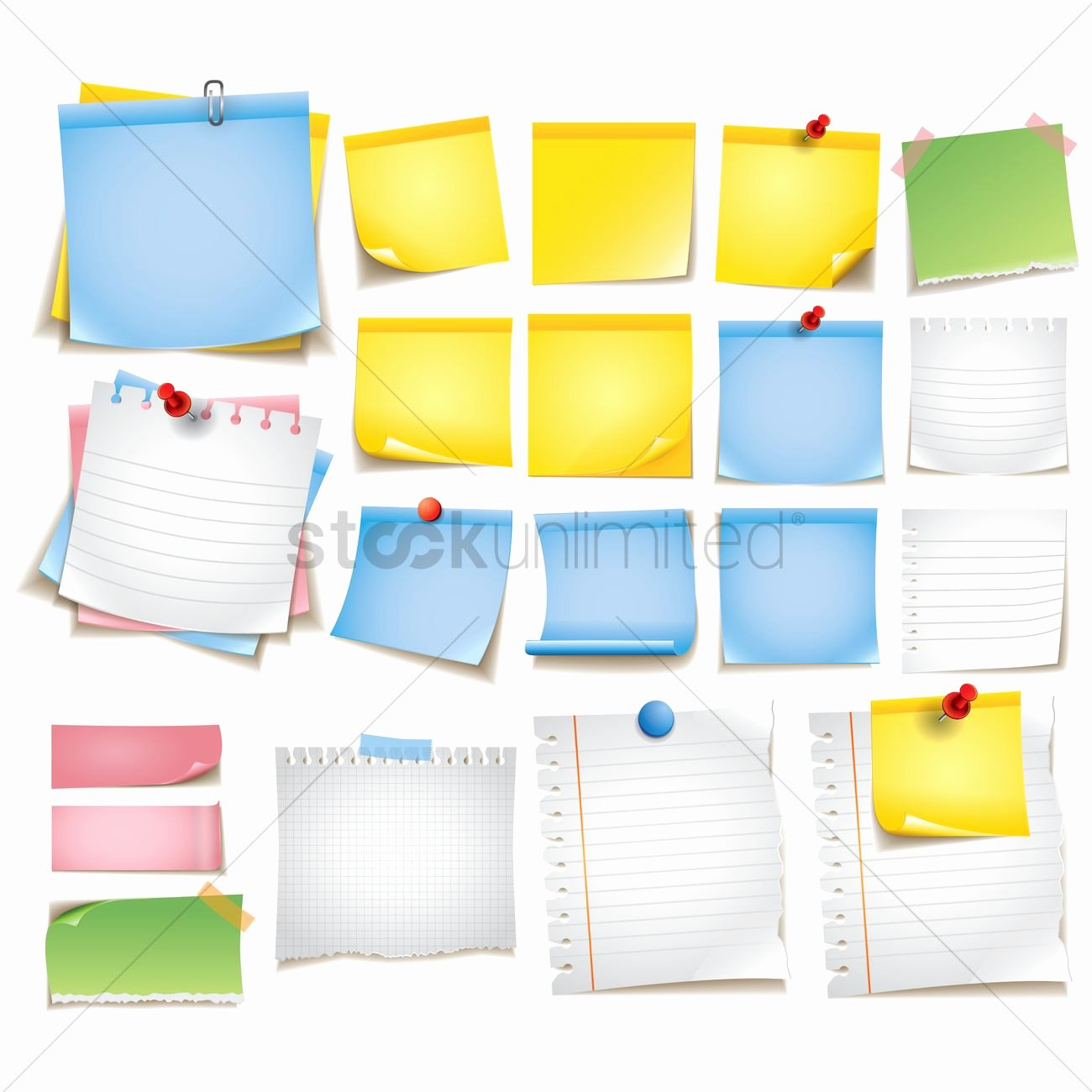 Sticky Notes Vector Unique Collection Of Sticky Notes Vector Image
