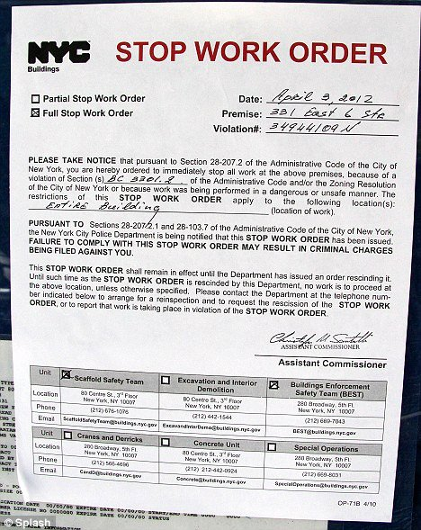 Stop Work order Template Beautiful David Schwimmer forced to Stop Construction On Dream Home