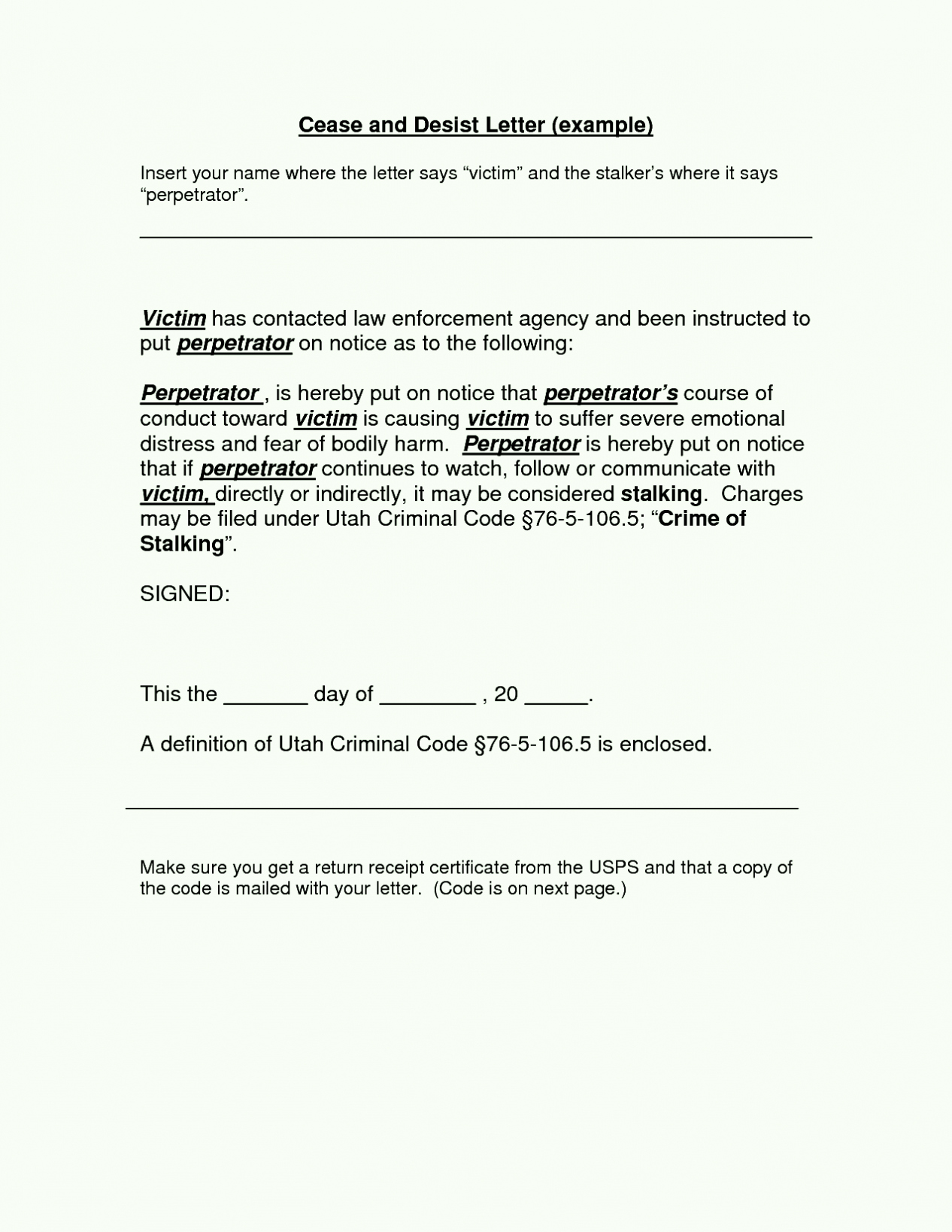 Stop Work order Template Lovely Cease and Desist Letter order Template