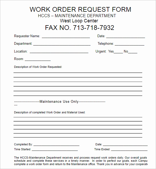 Stop Work order Template Luxury 24 Work order Templates Free Word Pdf Excel Doc formats