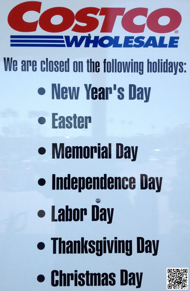 Store Hours Sign Template Awesome Costco Closed On the Following Holidays Michael Dorausch