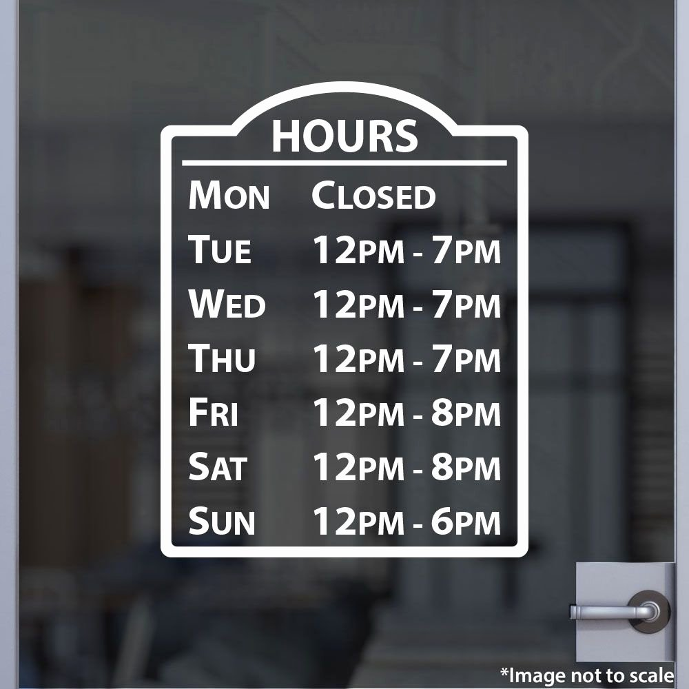 Store Hours Sign Template Beautiful Hours Sign Stickertitans