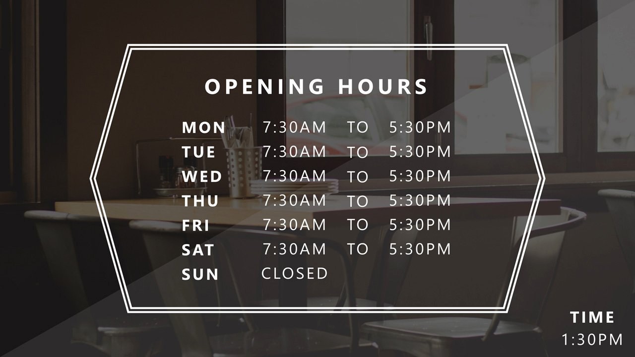 Store Hours Sign Template Best Of Powerpoint Business Hours Template • Presentationpoint