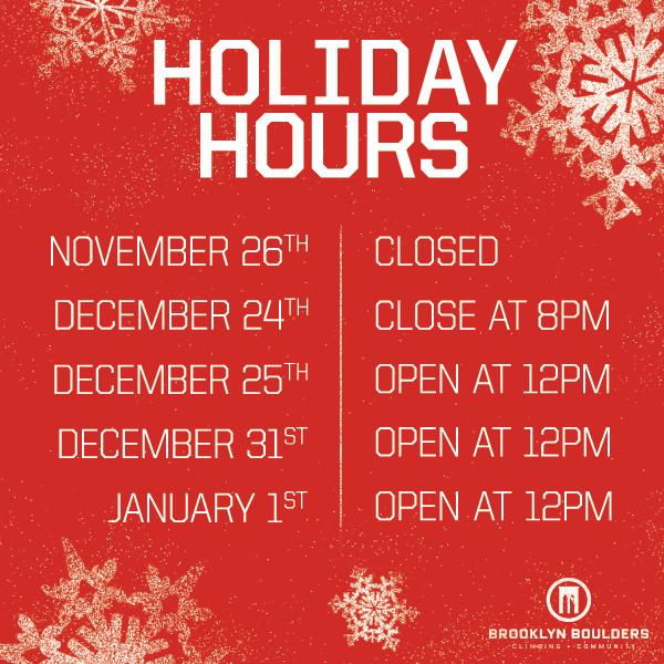 Store Hours Sign Template Elegant Brooklyn Boulders Holiday Hours Brooklyn Boulders