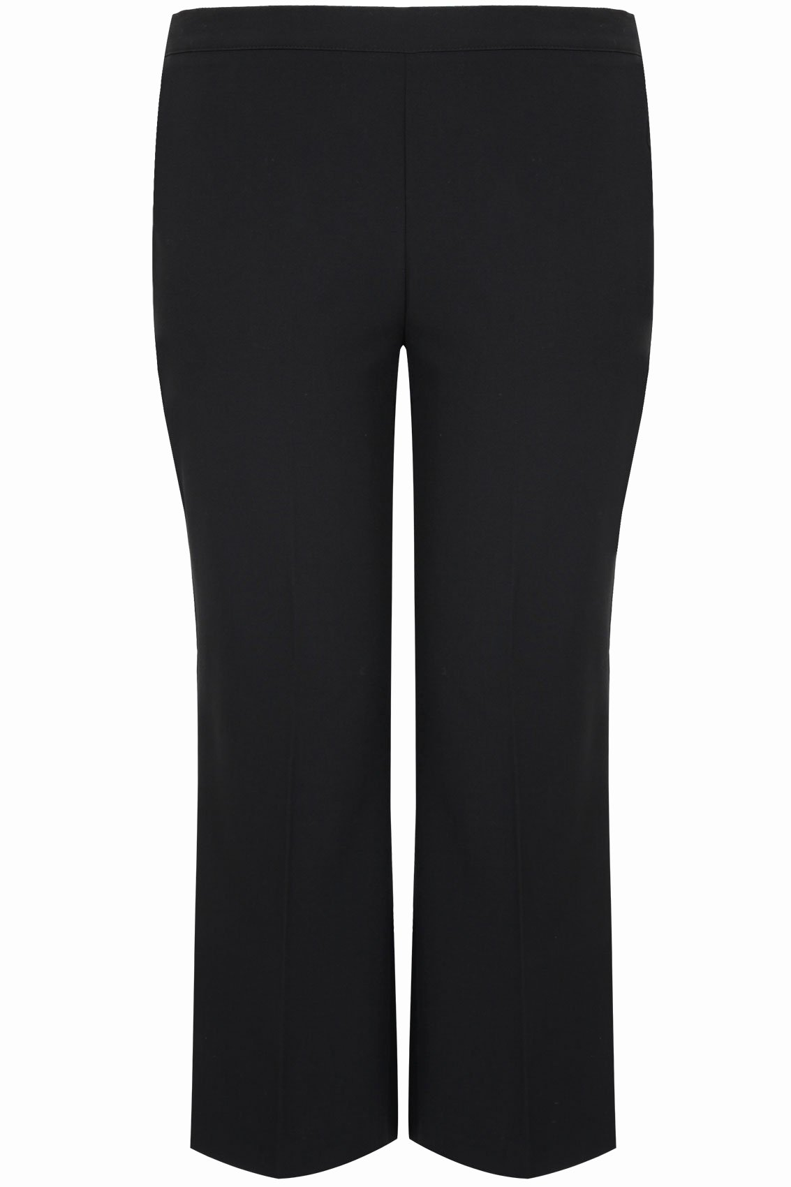 Store Hours Sign Template Luxury Black Classic Straight Leg Trousers with Elasticated