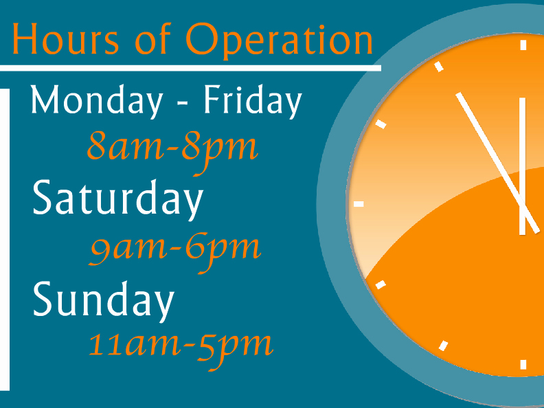 Store Hours Sign Template New Hours Operation Templates