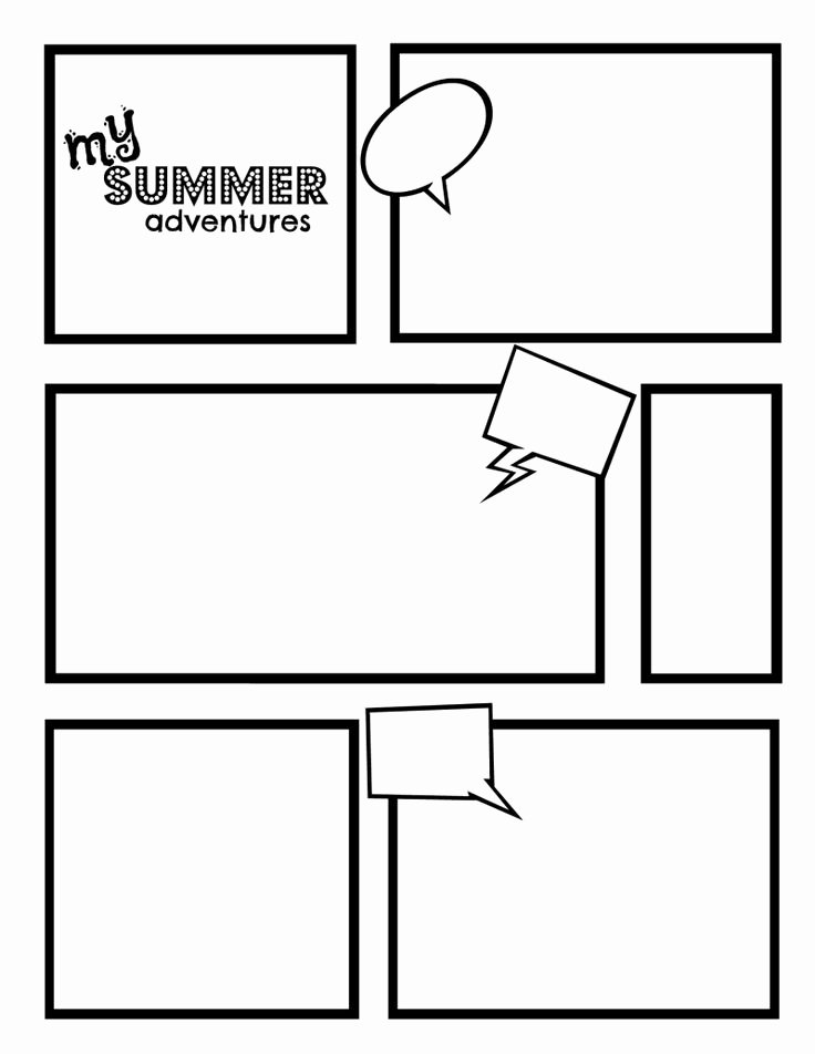 Story Book Template Lovely Ic Strip Template