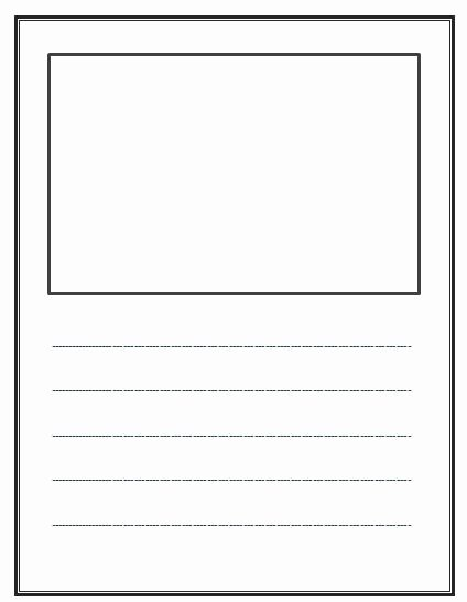 Story Book Template Lovely Write and Draw Lined Paper with Space for Story