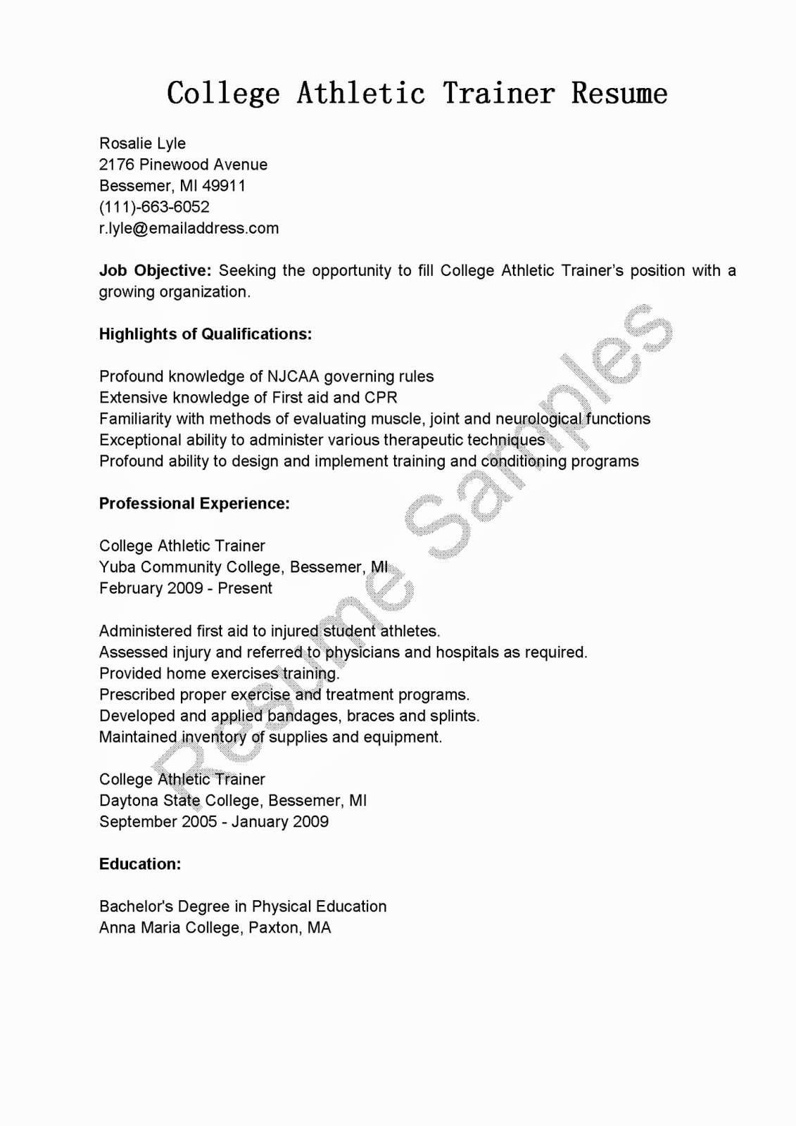 Student athlete Resume Example Fresh Student athlete Resume Special Best S Sample athletic