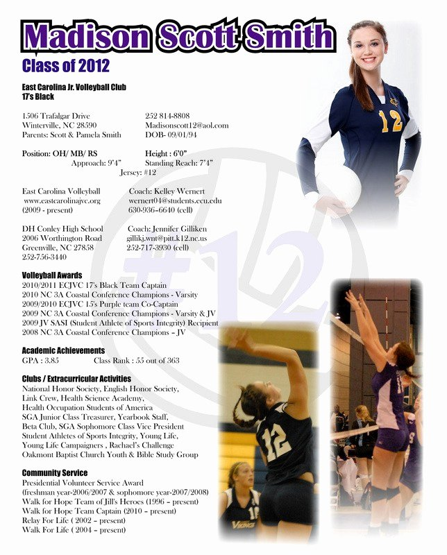 Student athlete Resume Example Inspirational Student athlete Resume