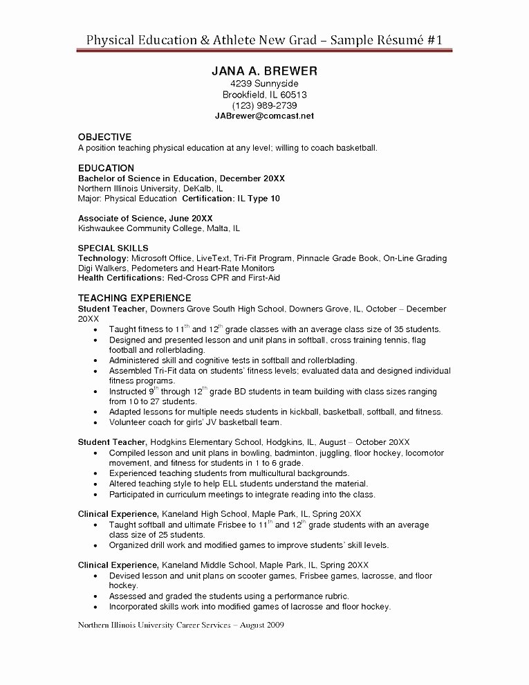 Student athlete Resume Example Unique 30 Basic Student athlete Resume Jv O – Resume Samples