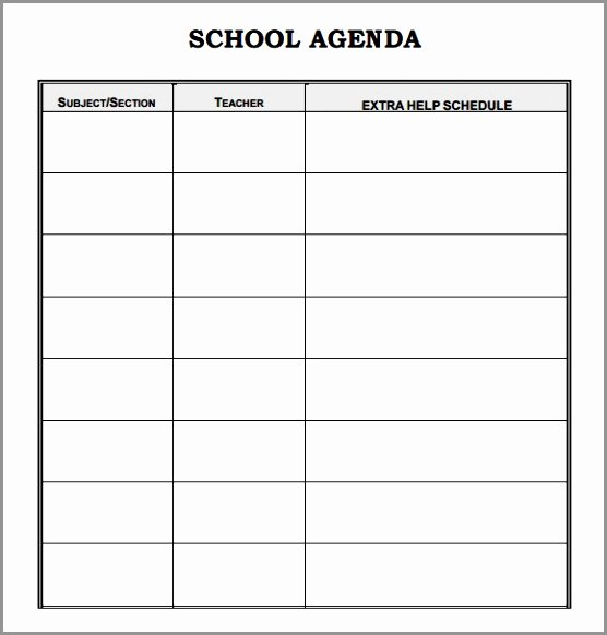 Student Council Minutes Template Awesome 5 Student Council Meeting Agenda Template Eyigr