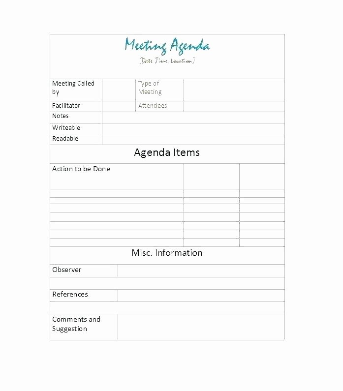 Student Council Minutes Template Beautiful Agenda Templates Free