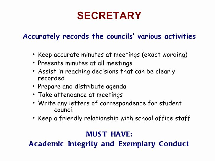 Student Council Minutes Template Inspirational Rms Student Council Elections September 2011