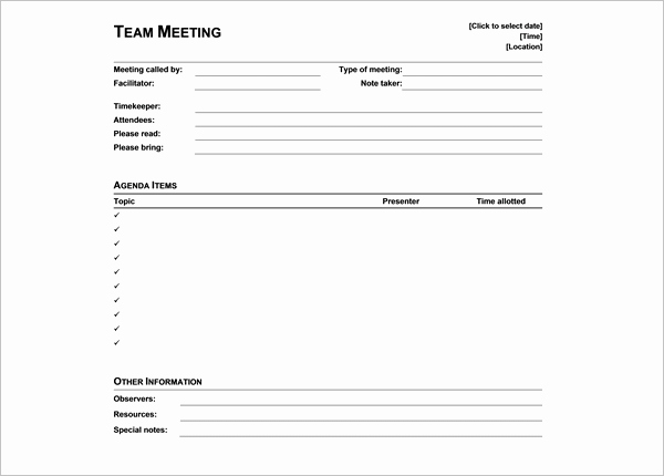 Student Council Minutes Template New 14 Student Agenda Templates Free Word Pdf Excel Samples