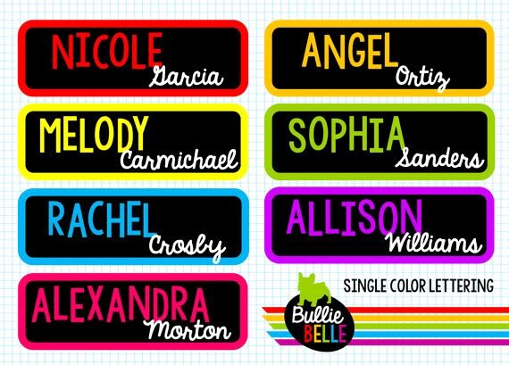 Student Desk Name Plates Templates Fresh Best 25 Cubby Name Tags Ideas On Pinterest