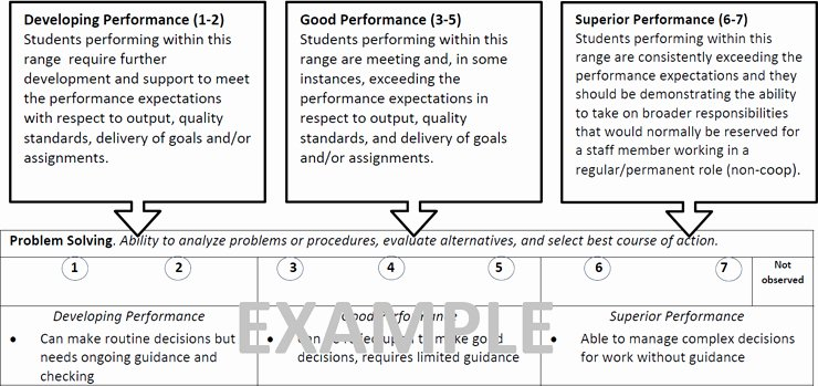 Student Performance Evaluation Examples Awesome Student Performance Evaluations