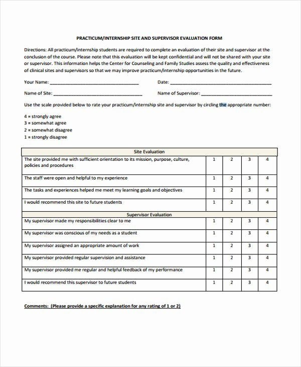 Student Performance Evaluation form New Student Evaluation form In Pdf