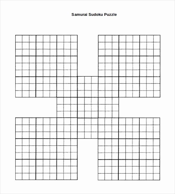 Sudoku Grid Template Awesome Prinable Sudoku Templates – 15 Free Word Pdf Documents