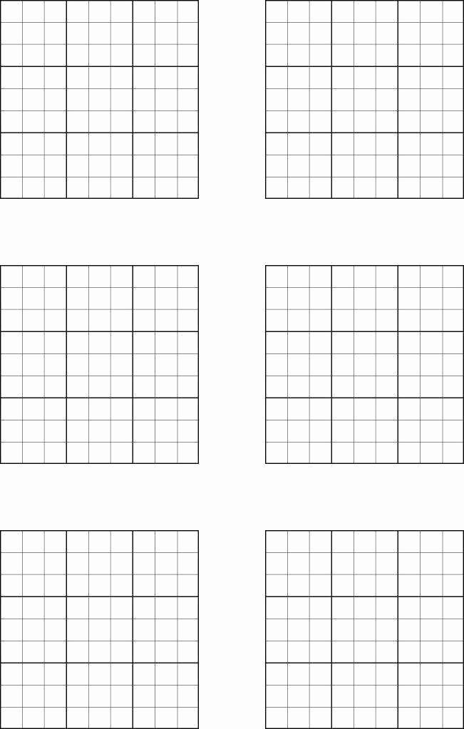 Sudoku Grid Template Awesome Sudoku Worksheets