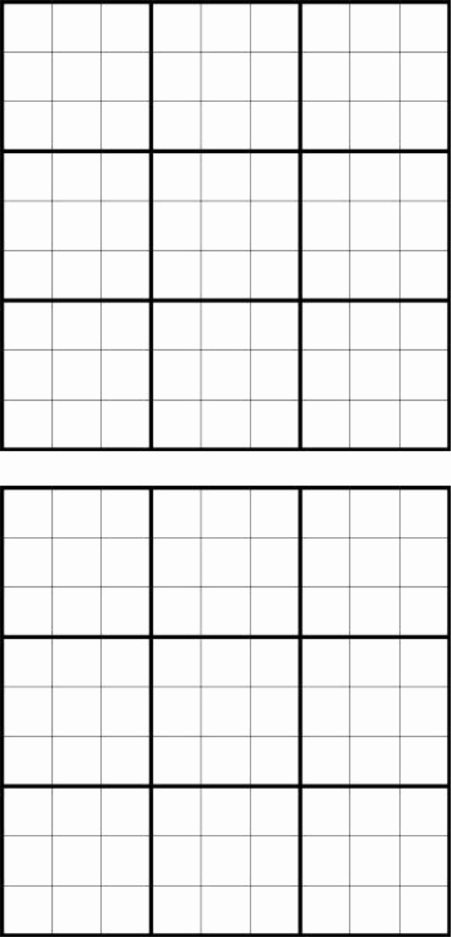 Sudoku Grid Template Beautiful Printable Sudoku Grids Have Fun Anytime