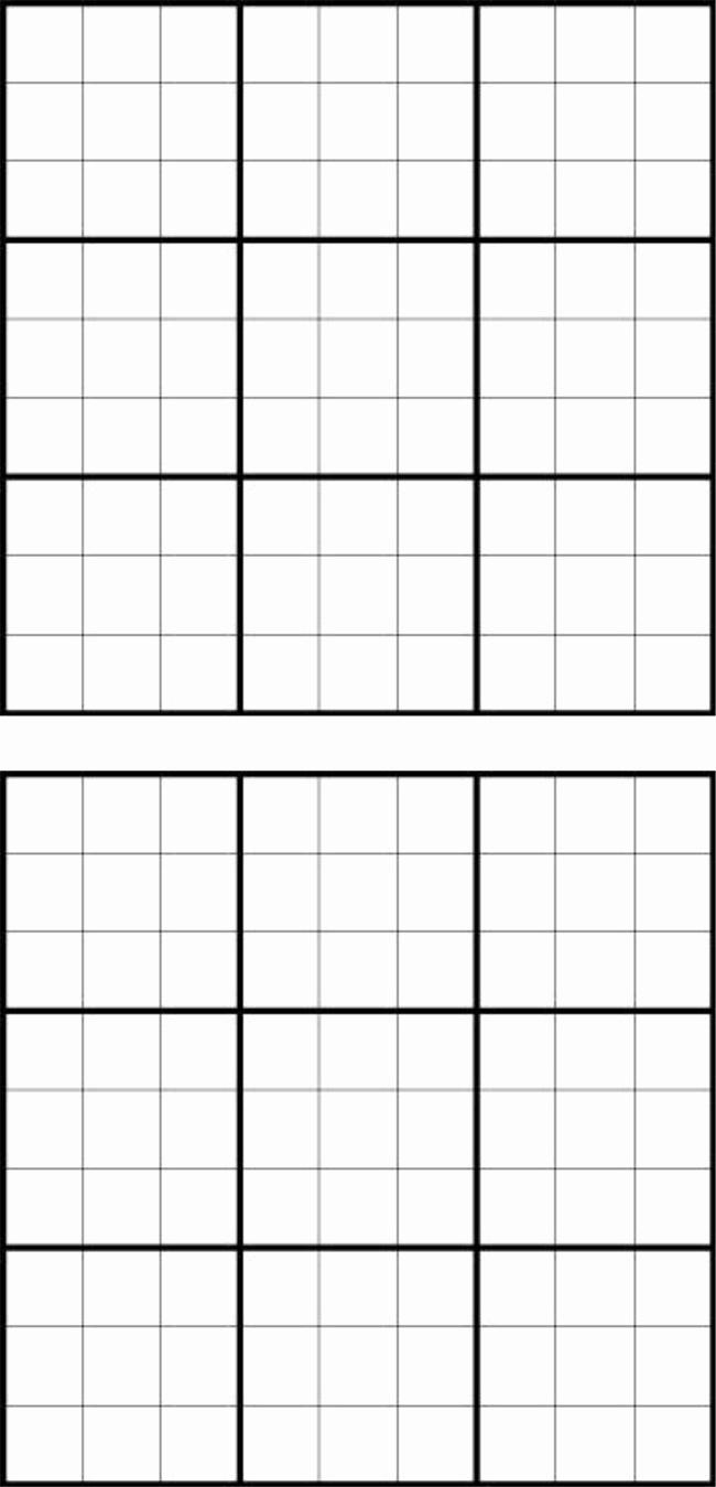 Sudoku Grid Template Beautiful Printable Sudoku Grids Have Fun Anytime