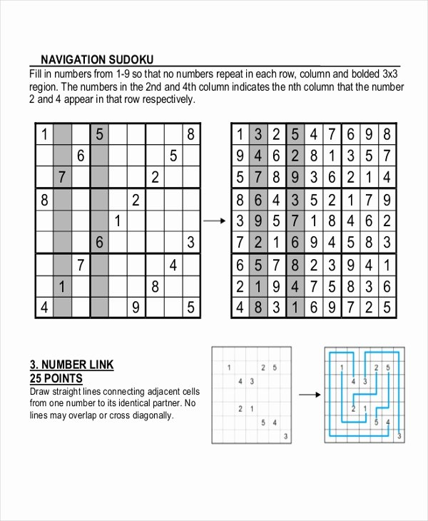 Sudoku Grid Template Best Of 8 Sudoku Templates Free Sample Example format