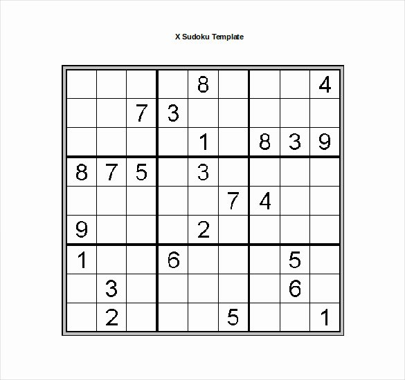 Sudoku Grid Template Elegant 15 Word Sudoku Templates Free Download