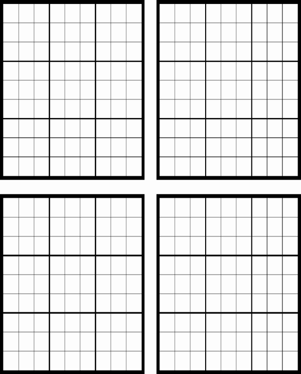 Sudoku Grid Template Elegant Download Sudoku Blank for Free formtemplate