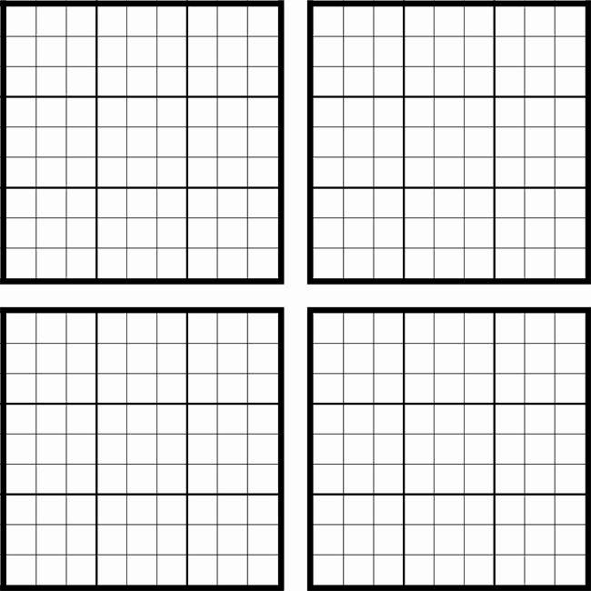 Sudoku Grid Template Inspirational Printable Sudoku Grids Have Fun Anytime