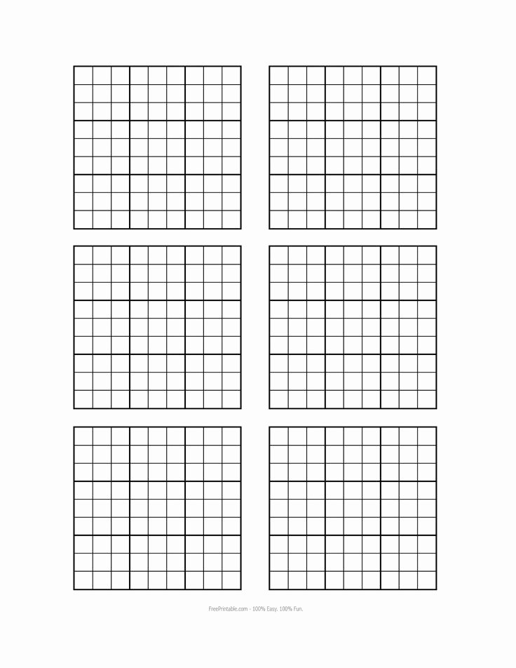 Sudoku Grid Template Lovely Free Printable Blank Sudoku Grids Misc Stuff