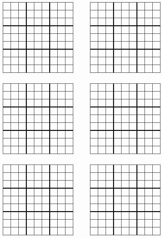 Sudoku Grid Template Lovely Printable Sudoku Sudoku Printable