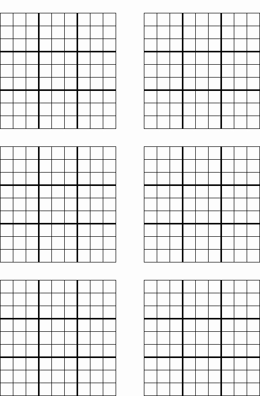 Sudoku Grid Template Luxury Game Grid Printable Sudoku Trials Ireland
