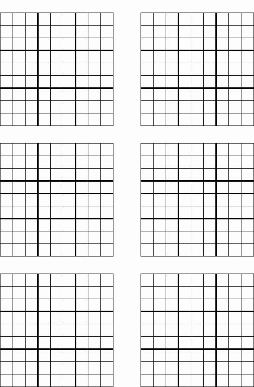 Sudoku Grid Template Luxury Game Grid Printable Sudoku Trials Ireland