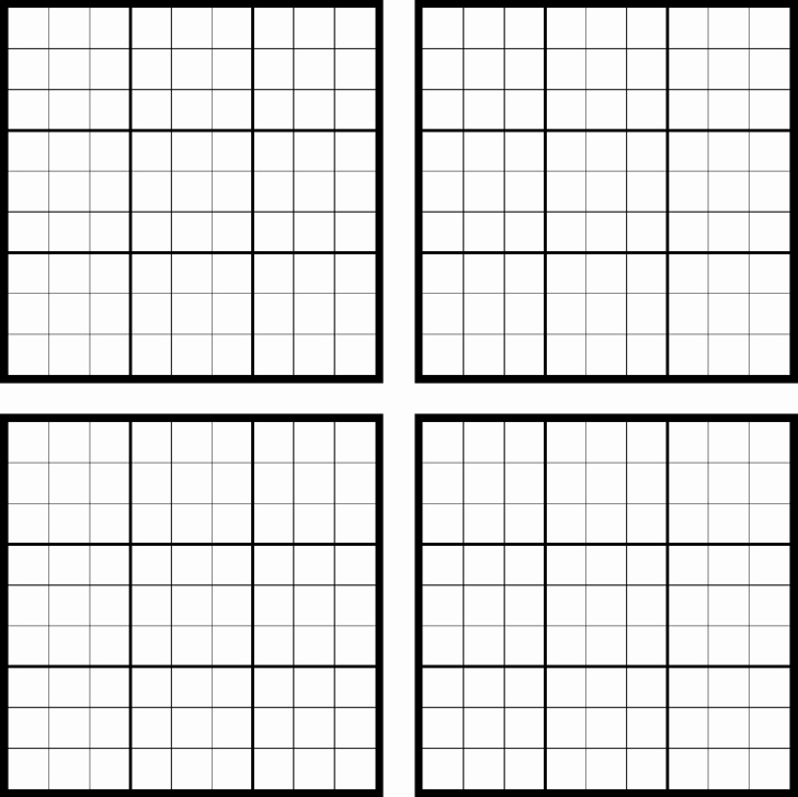 Sudoku Grid Template Luxury Printable Sudoku Grids Template Free Download