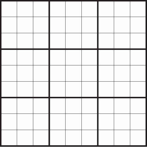 Sudoku Grid Template Unique Blank Grids Siteraven