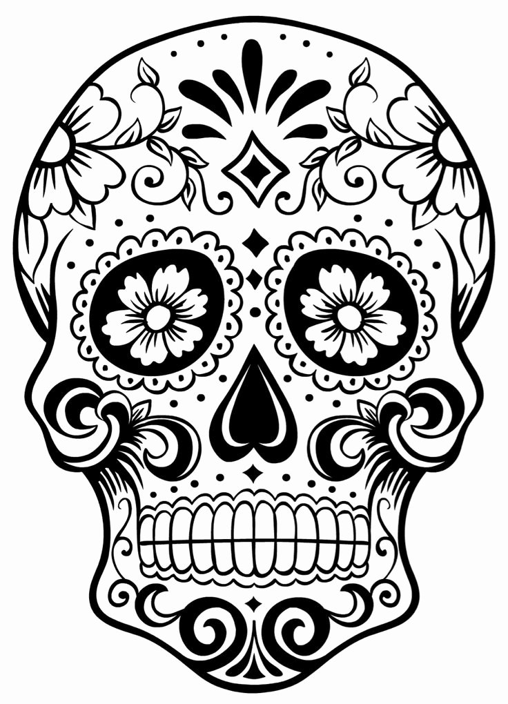 Sugar Skull Outline Awesome 17 Best Ideas About Candy Skulls On Pinterest