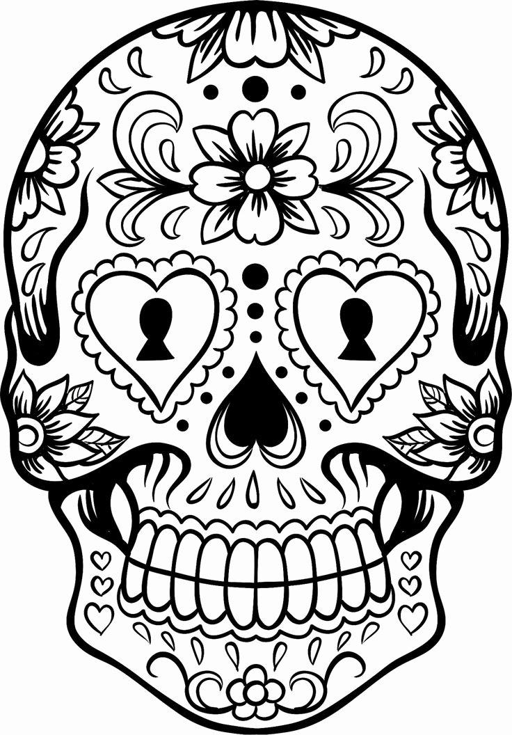 Sugar Skull Outline Awesome Sugar Skull Version 6 Wall Vinyl Decal Sticker Art Graphic