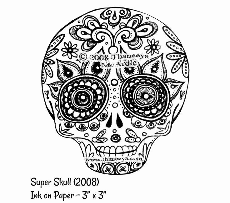 Sugar Skull Outline Fresh Sugar Skull Outline