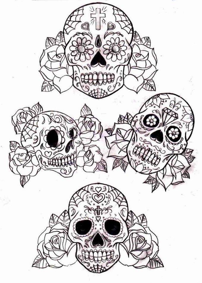 Sugar Skull Outline Fresh Tattoos Book 2510 Free Printable Tattoo Stencils Skulls