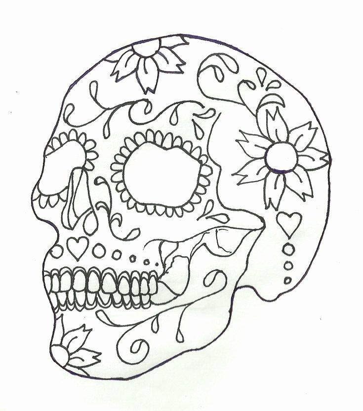 Sugar Skull Outline Luxury Outline Sketch [sugar Skull Design]
