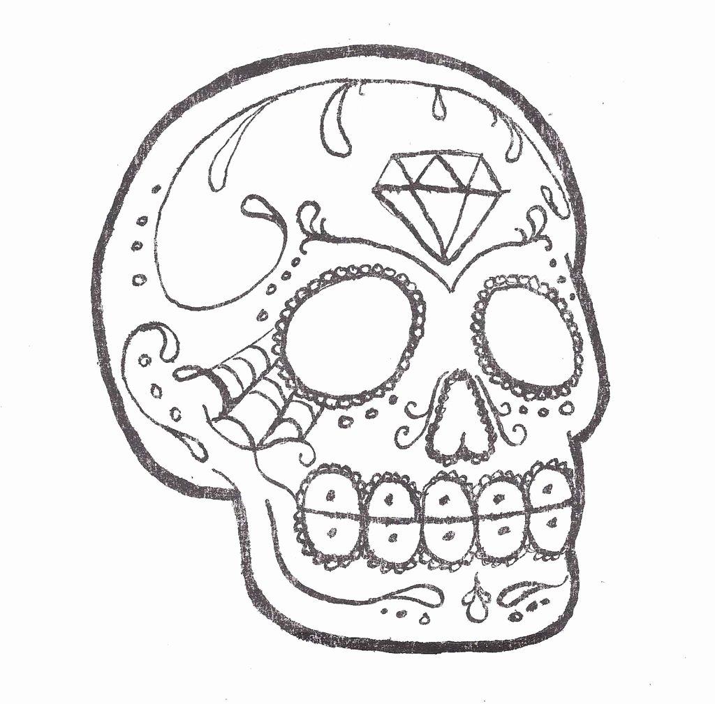 Sugar Skull Outline Luxury Sugar Skull Outline