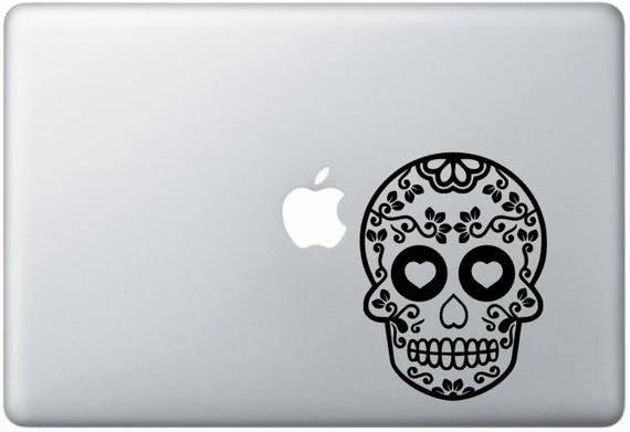 Sugar Skull Outline New Sugar Skull Outline Laptop Decal