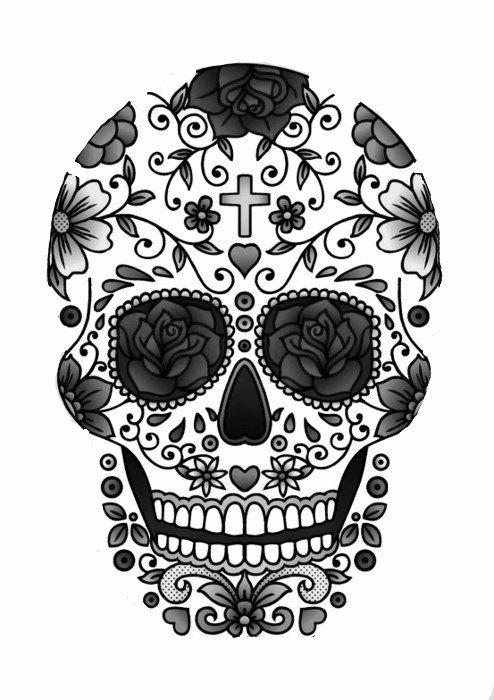 Sugar Skull Outline Unique 9 Outline 29 Downright Awesome Sugar Skulls You Re